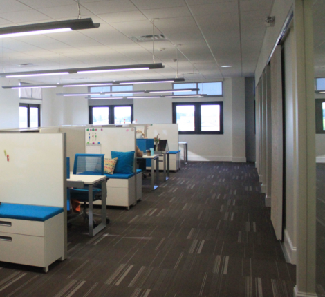 Photo of an example of a hybrid office plan.